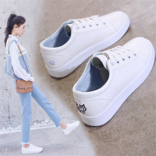 Women Canvas Shoes Lace-up Casual Flats White Ladies White