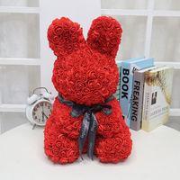 Valentine's Day Rose Rabbit Gift Romantic Gift Pe Foam Rose Darling Rabbit Creative Flowers Birthday Express Gift