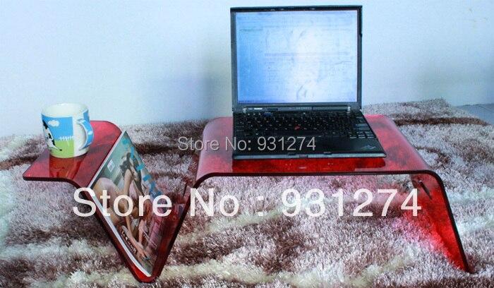 Акрил ноутбук лоток/кровать поднос столик/люсита столик/мебель для гостиной/акрил мебель