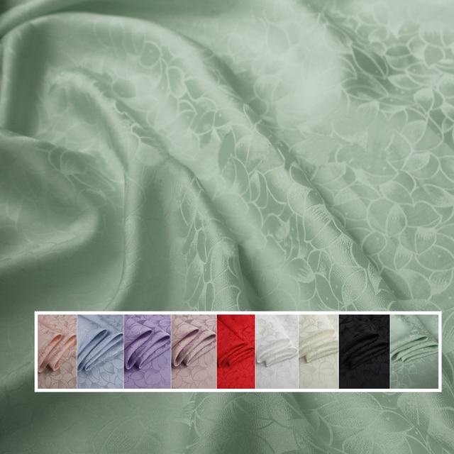 כבד משי חומר לוטוס אקארד משי בד עבור שמלות חולצות משי ויסקוזה