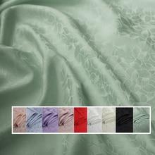 Tela jacquard para vestidos, tejido de seda, material de seda pesada, lotus, viscosa