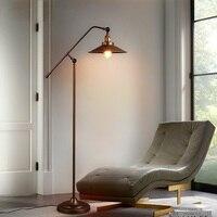 Nordic LED Ретро торшеры современной гостиной огни гладить Art пол свет спальня светильники Новинка пол освещение