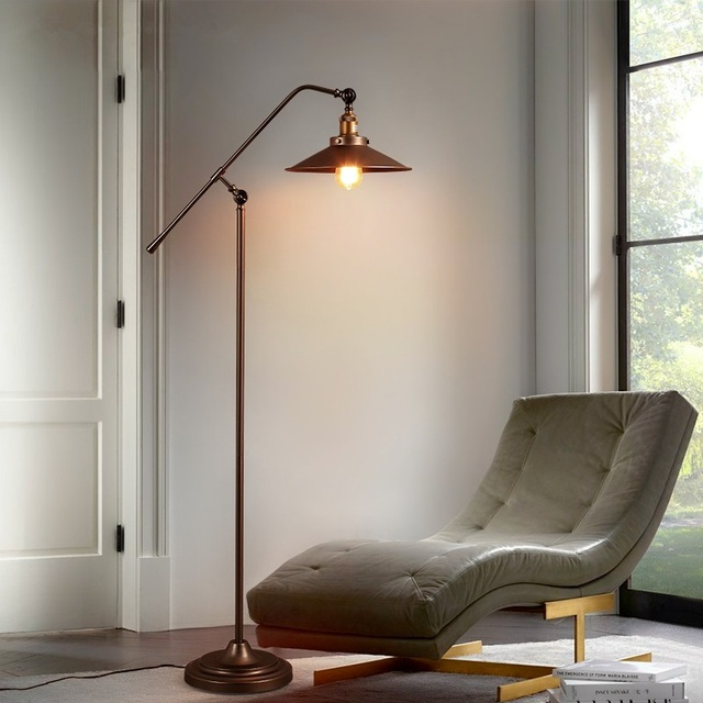 Nordic Led Retro Floor Lamps Modern Living Room Lights Iron Art Light Bedroom Fixtures Novelty