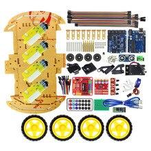 Многофункциональный Bluetooth управлять роботом салона автомобиля Наборы тонн опубликовано бесплатные коды UNO R3 Starter Kit для Arduino DIY Kit