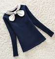 BibiCola мода ребенка зимой теплый Дна рубашки для девочек детей Плюс бархат утолщение теплые майки девушки теплая куртка 3-8Y