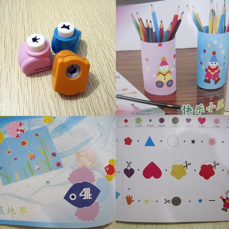 DIY Paper Printing Card Kids Handmade Craft Mini Paper Punch Cutter Scrapbook Embossing Device
