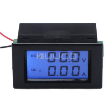 Digital Tester DC 0~200V Voltmeter 0~10A Ampere meter 2in1 Lcd Dual Display Volt Meter Amp meter DC12V 24V Voltage Current Meter