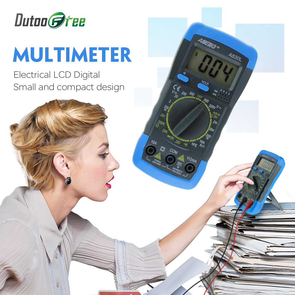 Digital Multimeter Voltmeter Ammeter AC DC OHM Volt Tester LCD Test Current Multimeter Overload Protection tester mini digital voltmeter ammeter dc 100v 30a voltmeter current meter tester vat1030 led display 274833