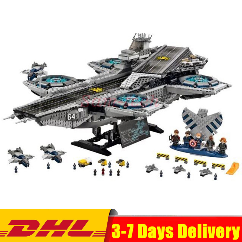 IN STOCK DHL Lepin 07043 Super Heroes The Shield Helicarrier Model Building Kits Blocks Bricks Toys Compatible 76042 in stock dhl lepin 07043 super heroes the shield helicarrier model building kits blocks bricks toys compatible 76042
