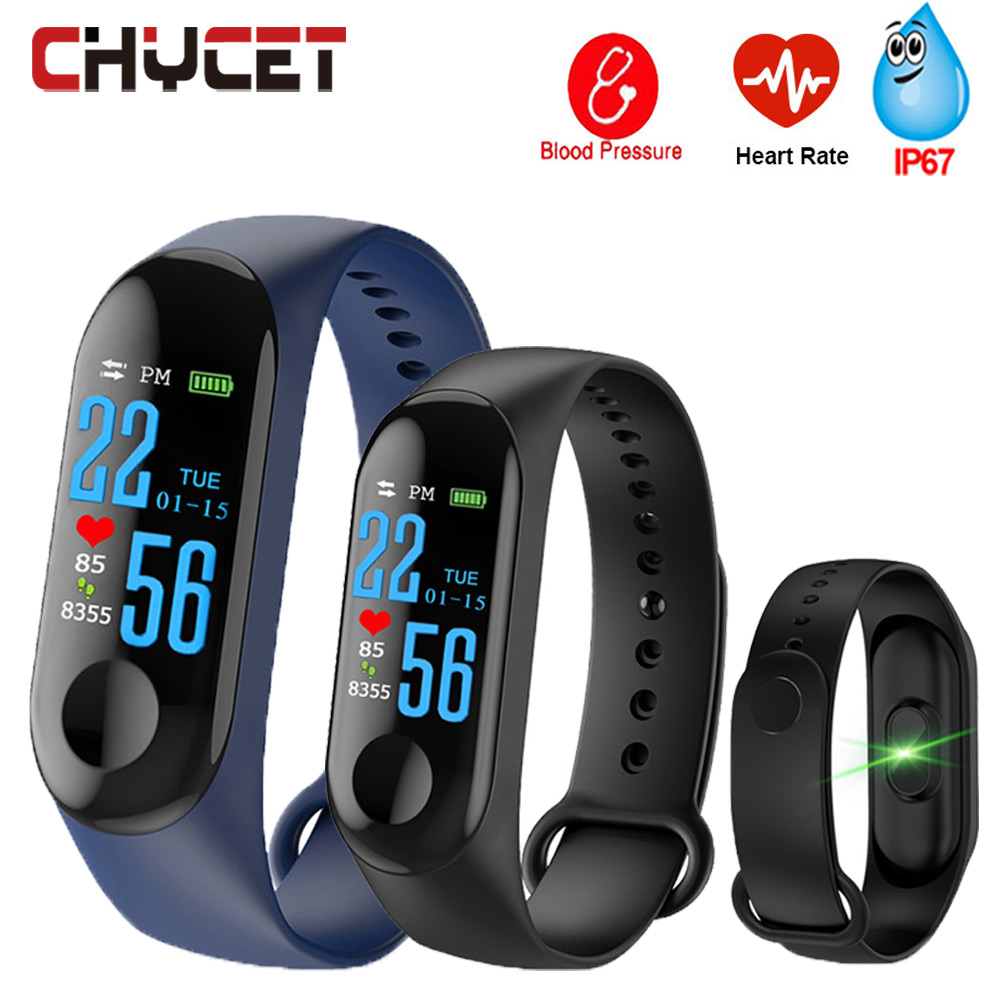 Smart Band Blood Pressure M3 Fitness Tracker Watch IP67 Swimming Waterproof GPS Tracker Heart Rate Monitor Smartband Men Women colmi v11 smart watch ip67 waterproof tempered glass activity fitness tracker heart rate monitor brim men women smartwatch