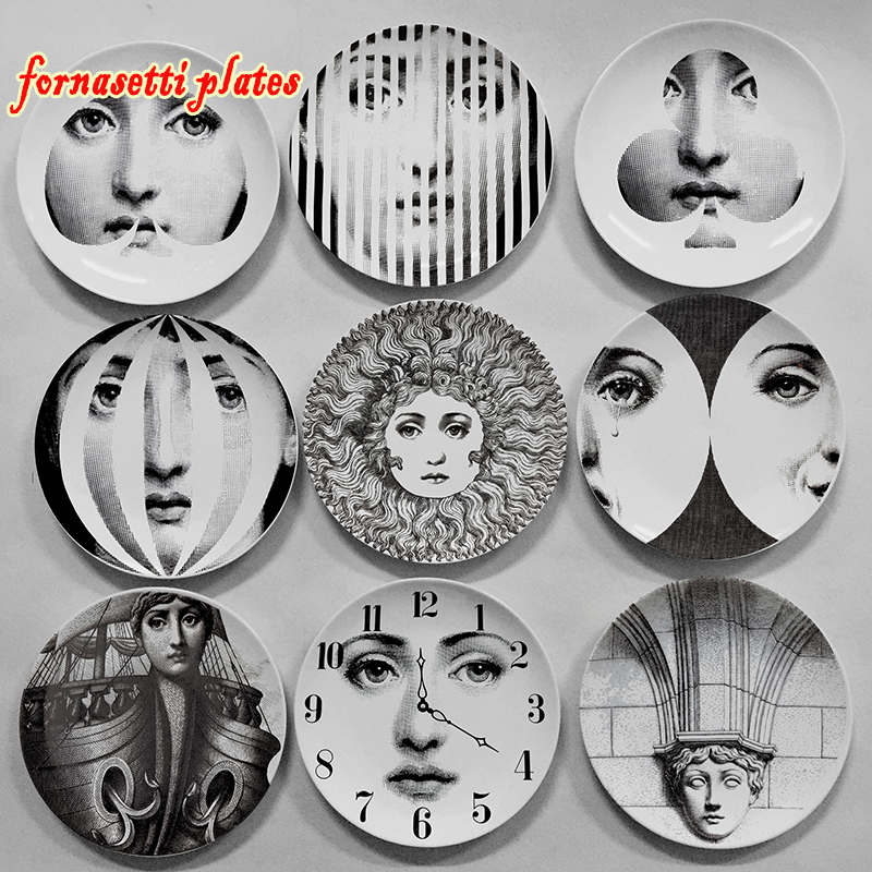 Fornasetti plate wall decoration Custom in Europe and America home decoration model room wall display to accept custom pictures in Bowls Plates from Home Garden