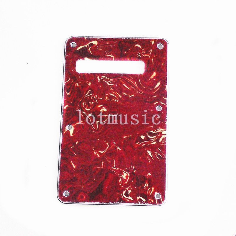 8*3ply Back plate Guitar Trem Cover Tremolo Cavity Cover For Fender Stratocaster Replacement Red ...
