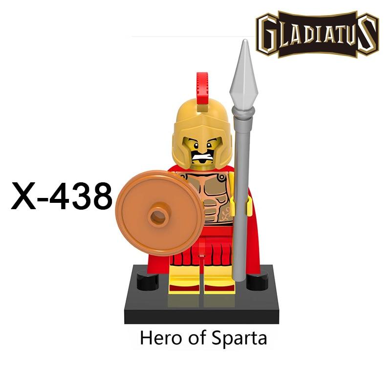 XH438 Hero of Sparta Building Blocks Gladiatus Diy figures Medieval Knights Rome Star Wars Superhero Set Bricks Kids DIY Toys cooler noctua nh d15 1156 1155 1150 1151 2011 2011v3 am2 am2 am3 am3 fm1 fm2 fm2