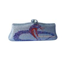 Schlange design kristall abend kupplung handtasche taschen