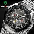 WEIDE Luxury Brand Полная Сталь Мужчины Смотреть Аналоговое мужская Мода Кварцевые Часы Бизнес Часы Мужские Часы relogio masculino 2017