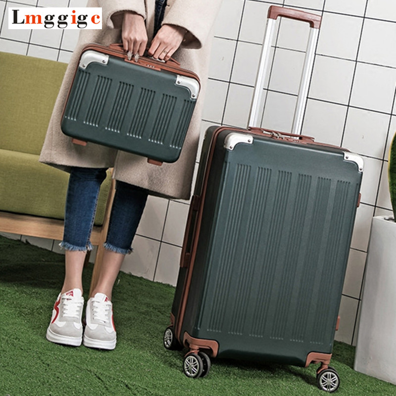 Universal Wheel Suitcase bag,Strong Zipper Luggage, ABS Shell Case,Aluminum Alloy Rods Travel Carry-Ons with password Lo ...