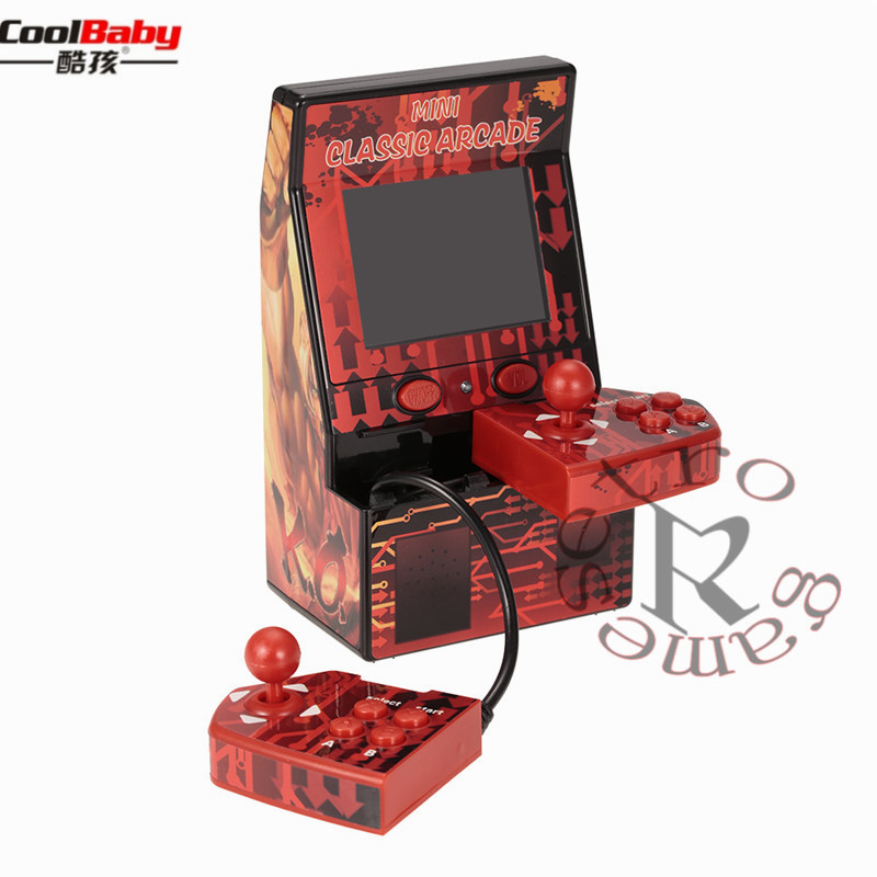 Upgraded Mini Classic Arcade Game Cabinet Machine Double Joystick Retro Handheld Player with Built in 183 Games toy for Children Handheld Game Players    - title=