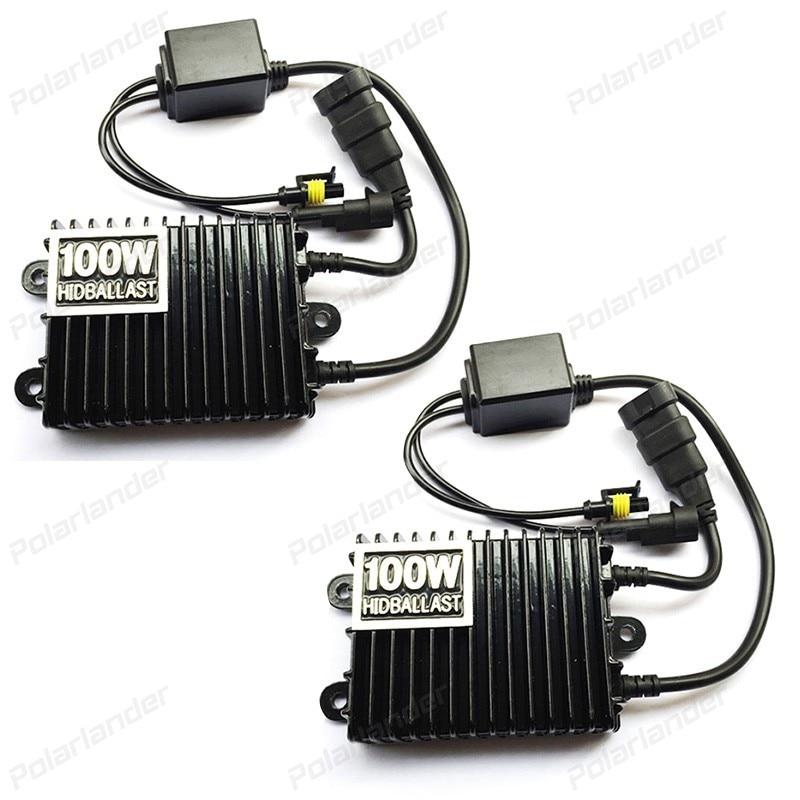 Blocks HID 12V 100W 2pcs Ballasts Light-Bulbs Replacement Car-Conversion-Kit Xenon Slim