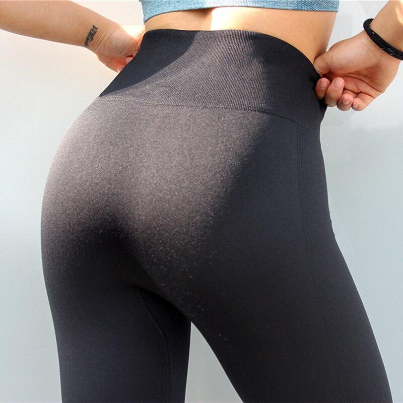 New Super Stretchy Gym Tights Yoga Pants High Waist Sport Leggings Women Black Slim Running Pants Women Fitness Gym Clothes Лосины