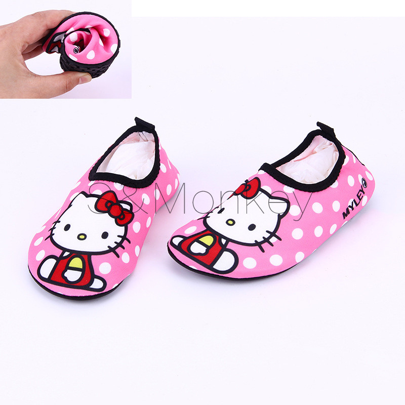 Quick Dry Children Girls kitty Shoes Sneaker sport running Anti-slip for Swimming Pool/Beach Kids Shoes Girl Sneakers Cute Cat