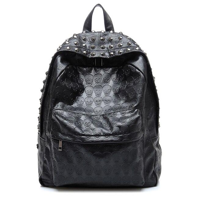 Daily Backpack Punk Skull Imprint Backpacks College School Bag