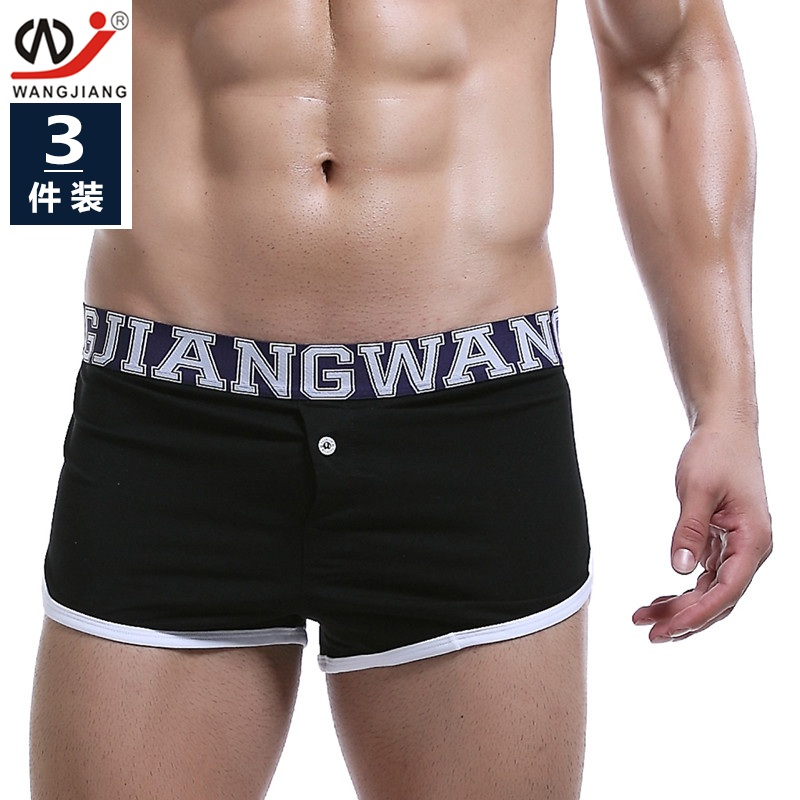3pcs/lot men's underwear fashion male boxer size breathable leisure Home Furnishing youth shorts