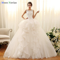 Vestido De Noiva Ball Gown Wedding Dresses With Detachable Tail Lace Up Back Sexy Wedding Gowns
