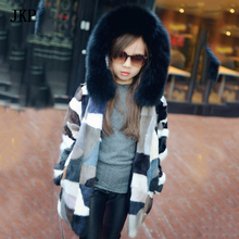 Children girl boy Mink Fur Jacket coat Real Natural fur Women Winter Coat