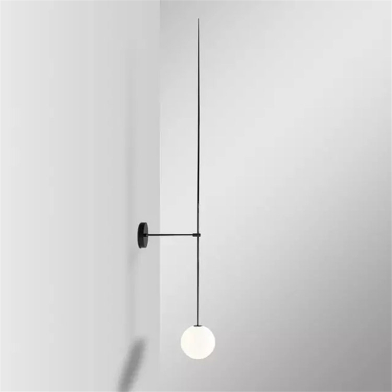 Post Modern Line Wall Lamp Nordic Glass Ball Led Wall Sconce