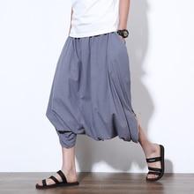 Più il Formato 5XL Mens Indiani Nepal Stile di Cotone di Tela Pantaloni  stile harem Casual 0576682b27ae