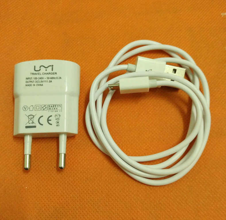 100% Original Travel Charger Plug Adapter+ USB Cable for UMI Touch MTK6753 Octa Core 5.5 FHD 1920x1080 free shipping