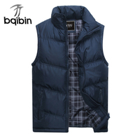 2017 New Brand Mens Jacket Sleeveless Vest Winter Fashion Casual Coats Male Cotton Padded Men S