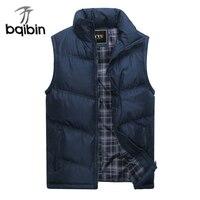 2017 New Brand Mens Jacket Sleeveless Vest Winter Fashion Casual Coats Male Cotton Padded Men S