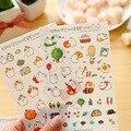 6 Sheets Mobile phone stickers Korea cute fat rabbit transparent diary album handbook stickers DIY stickers