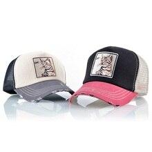 цена на Hip Hop Men  Caps Hats  Black Snap back Baseball Cap Men Women Animal Farm Trucker Cap Hat Summer Breathable Mesh sunhat