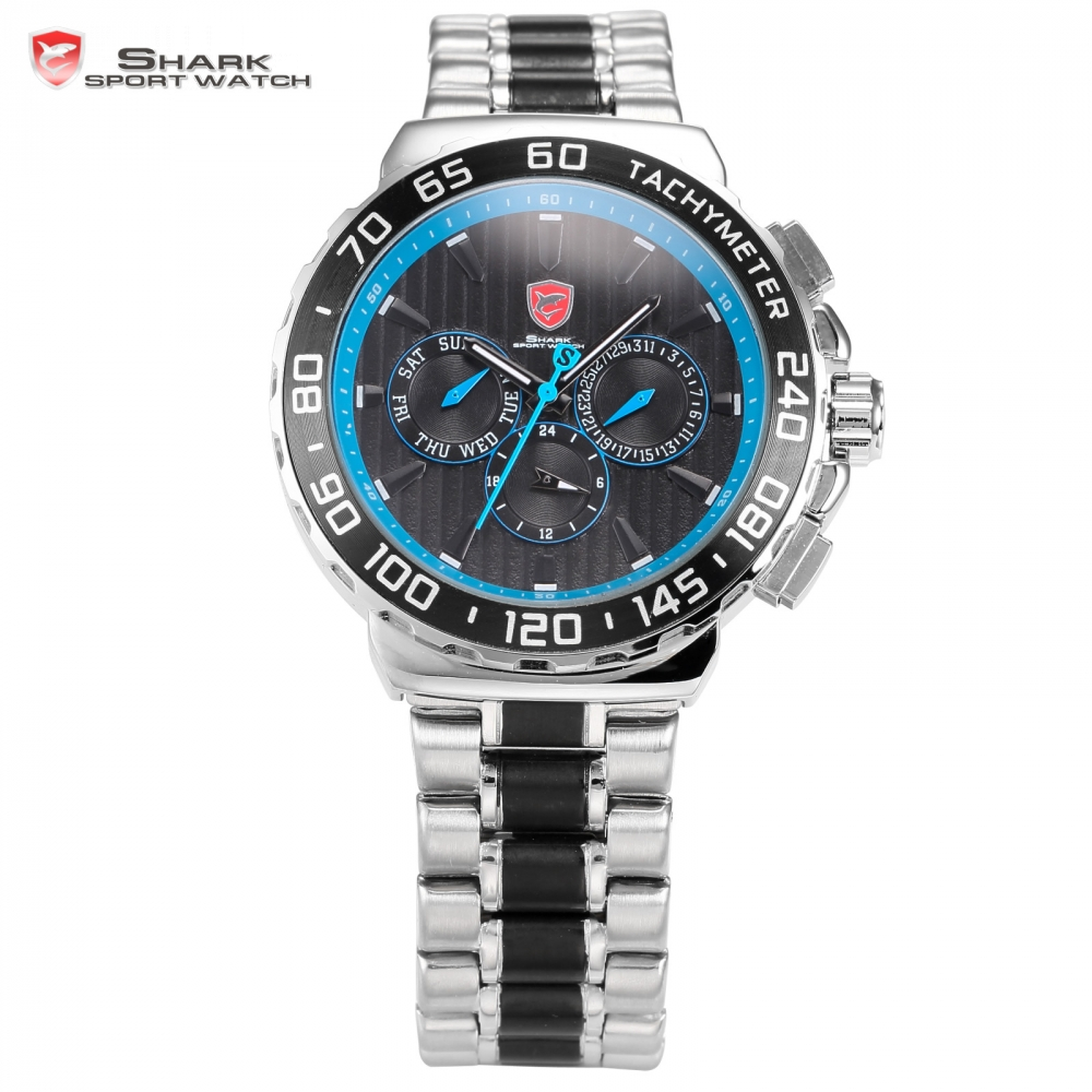 где купить Blacknose Shark Sport Watch Blue Silver Mens Watches Top Brand Luxury Auto Date Day 6 Hands Waterproof Quartz Sports Gift /SH383 по лучшей цене