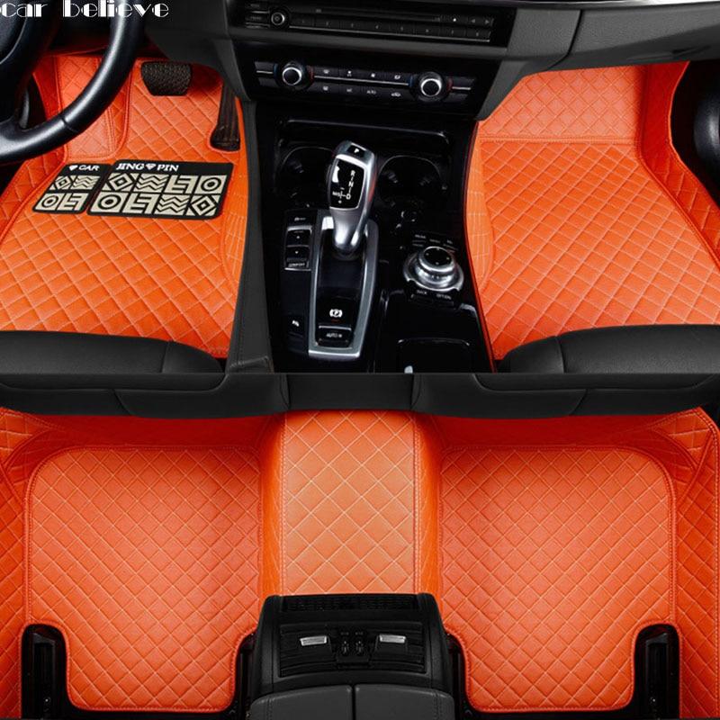 Car Believe Auto car floor Foot mat For Dodge Journey Caliber Avenger Challenger Charger waterproof car accessories