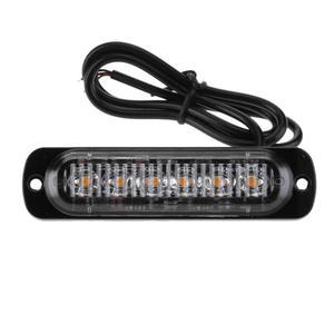Image 3 - 4Pcs 12 24V 18W 6 LED Slim Flash Light Bar Car Vehicle Truck Moto Emergency Warning Strobe Lamps Auto Accessories