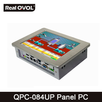 QPC 084UP Panel Touch PC Industrial Computer Fanless Intel 1037U 1 8GHz CPU 32GB SSD With