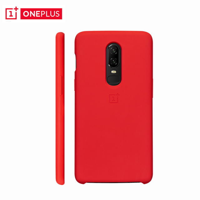 new style 1582b fd8fc US $25.49 15% OFF|Original OnePlus 6 Silicone Protective Case Red Genuine  Oneplus6 Silicone + PC Case One Plus 6 Soft Microfiber Protective Shield-in  ...