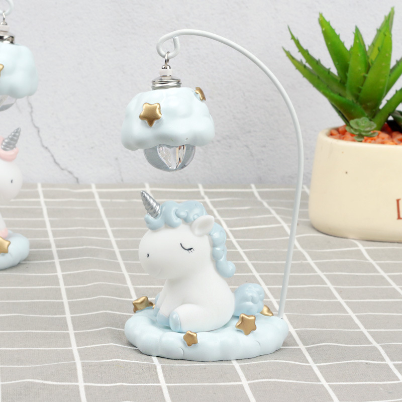 Cute Cartoon LED Night Light Home Decor Light Resin Unicorn Light Bedside Table Lamp For Baby Children Kids Girls Birthday Gift (2)