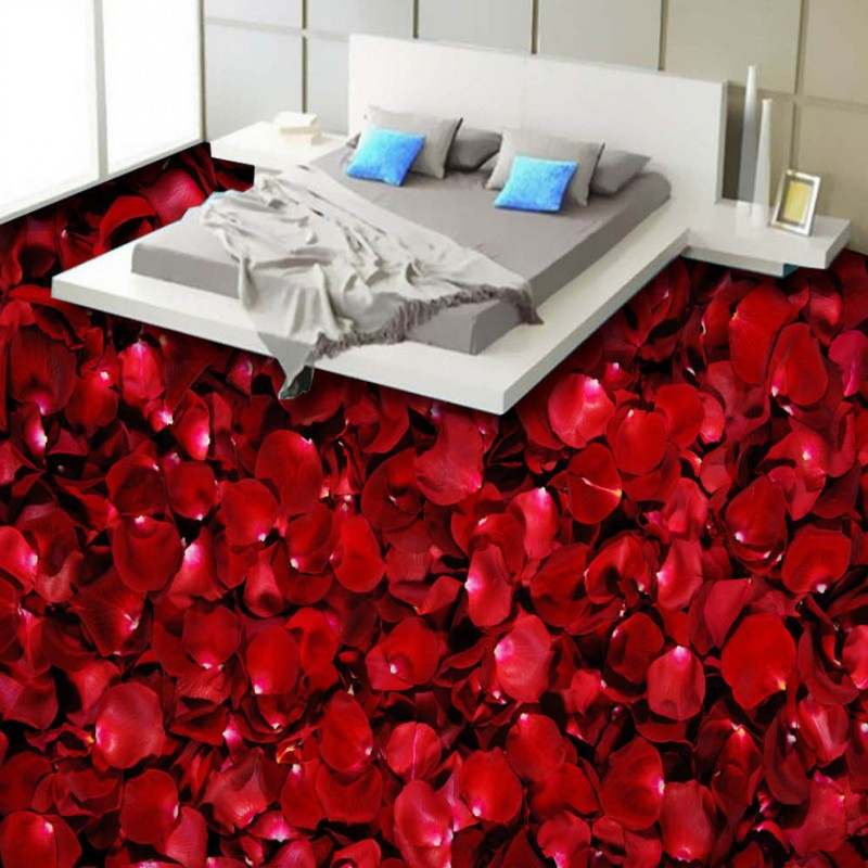 Free Shipping red rose petals living room bathroom 3d flooring stereo thickened art lobby wallpaper custom anti-skidding mural free shipping aesthetic seaside beach living room bathroom 3d floor thickened kitchen restaurant bedroom lobby flooring mural