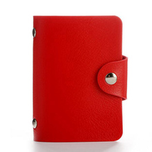 Fashion PU Leather Function 24 Bits Card Case Business Card Holder Men Women Credit Passport Card Bag ID Passport Card Wallet(China)