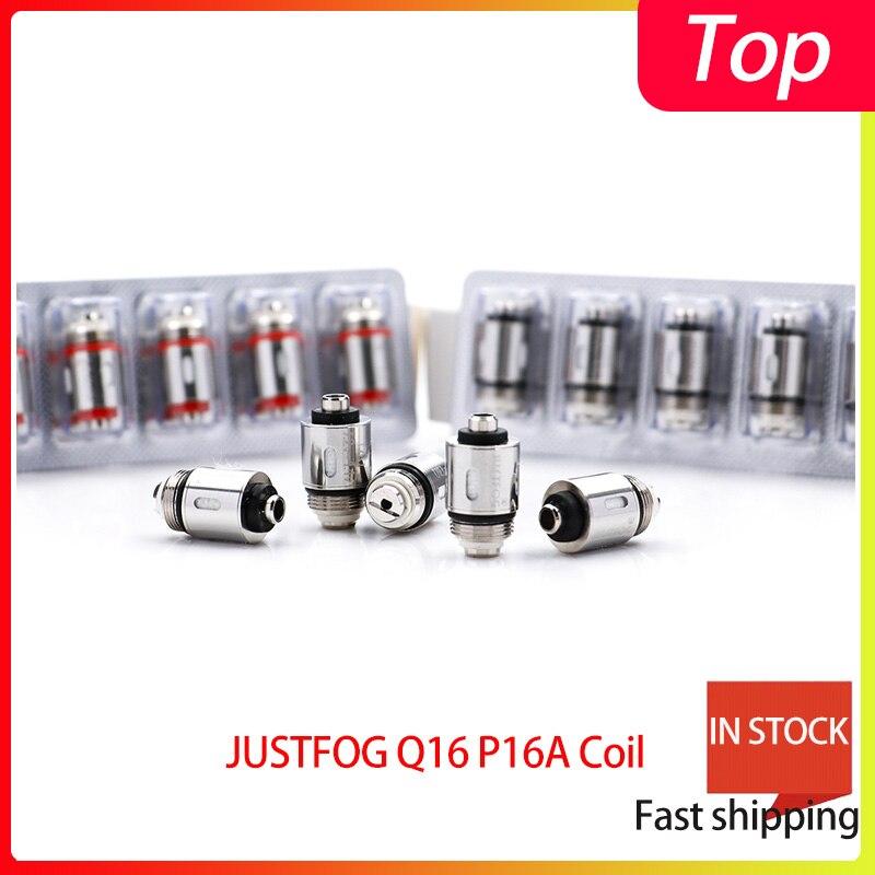 25 PCS/lot bigsale JUSTFOG Q16 P16A bobine 1.2ohm et 1.6ohm japonais coton organique bobine costume pour Q16 Q14 S14 G14 C14 kit de démarrage