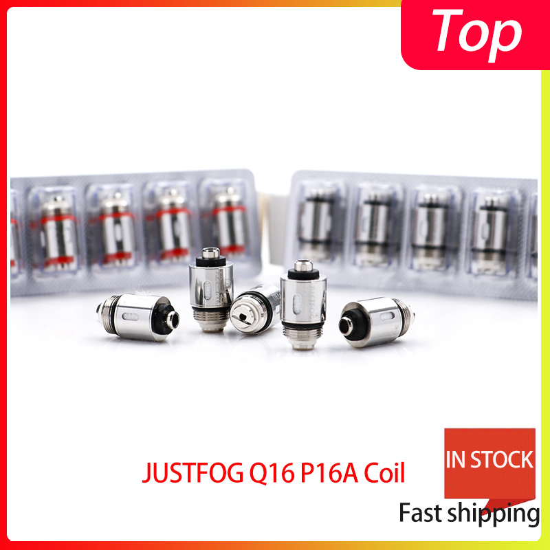 25PCS/lot Bigsale JUSTFOG Q16 P16A Coil 1.2ohm And 1.6ohm Japanese Organic Cotton Coil Suit For Q16 Q14 S14 G14 C14 Starter Kit