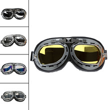 NEW Vintage Motorcycle Glasses Goggles ATV Motocross Anti-UV Skiing Snowboard Sunglasses Scooter Helmet Off-Road
