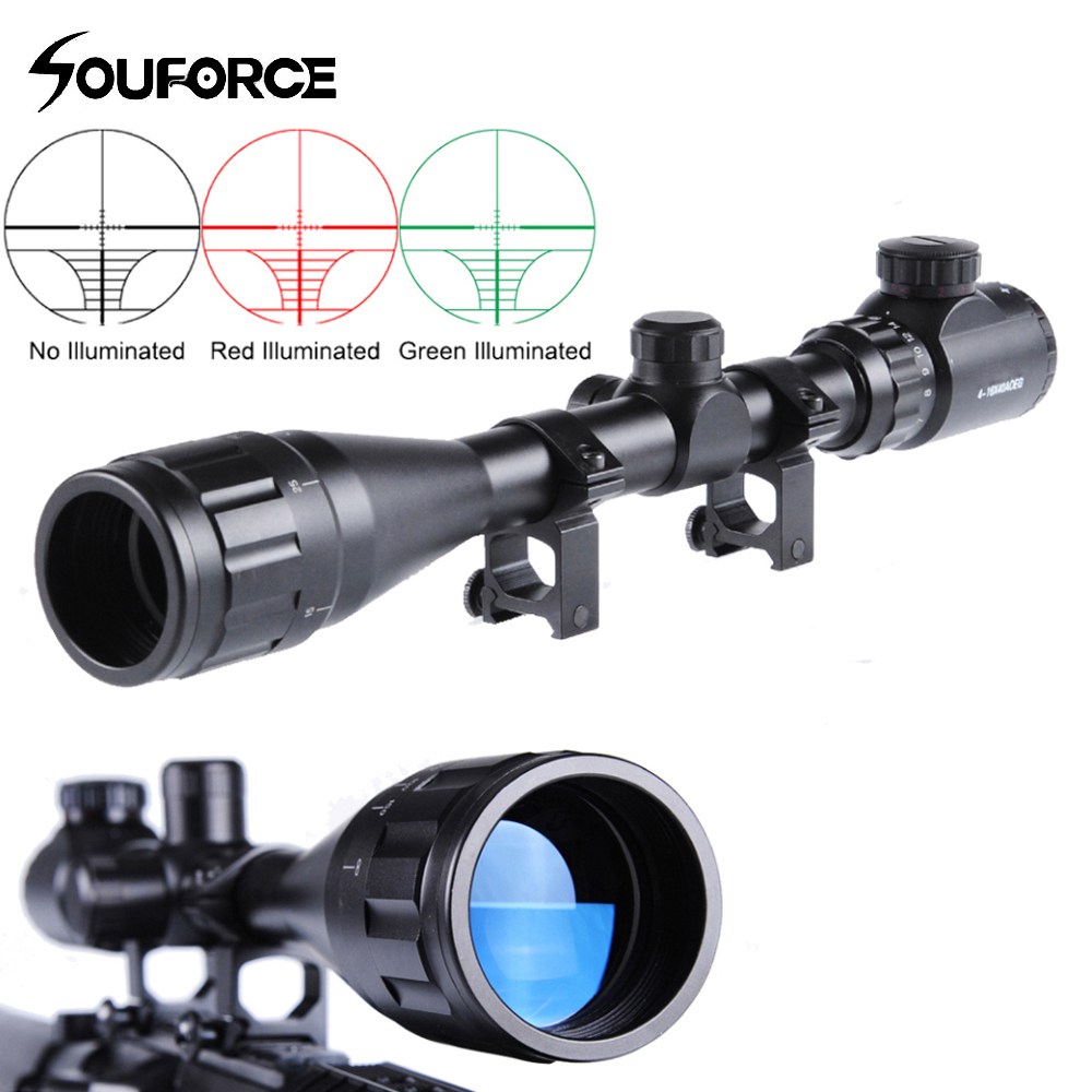 Hunting Scope 4-16X40AOEG Sniper Rifle scope with Adjustable Objective Lens of Illuminated Red Green Rangefinder Reticle modern led ceiling light 12w 30cm kitchen light living room lights bedroom lamps ceiling lamps plafonnier led moderne