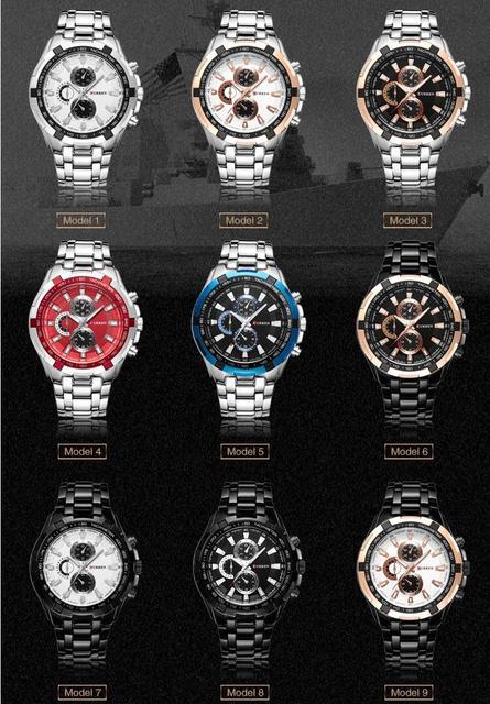 Reloj de Acero Inoxidable y Pulcera de Cuarzo