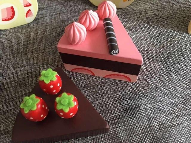 Kids Kitchen Toys Chocolate Birthday Cake Children Wooden Cake Food