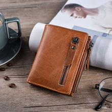 Genuine Cow Leather Men Wallets Card Holder Thin Wallets Vintage High
